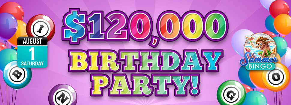 $120,000 Birthday Party | Get your share of the $120,000 pool prize