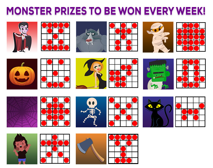 Halloween Bingo Patterns.Bingohouse Share A 12 000 Prize Pool In Our Halloween Bingo Tourney This October